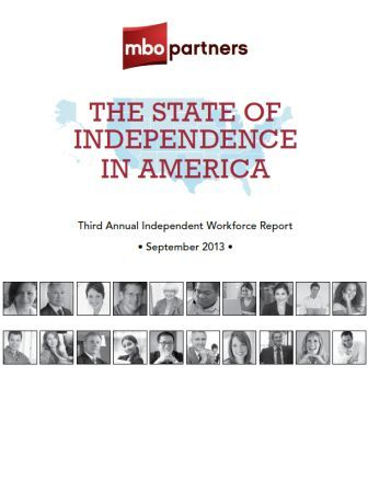 image of The State of Independence in America report from MBO Partners - World of Work has Changed - Delightability