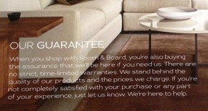 room and board catalog back page guarantee image