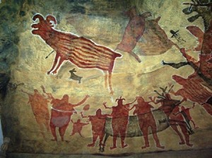 image showing early cave painting communications design - Delightability