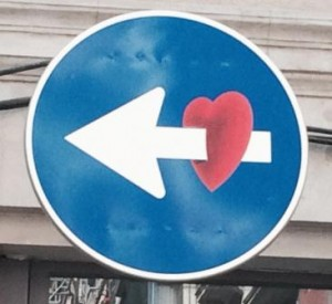 image of love sign - finding the love in what you do - Delightability