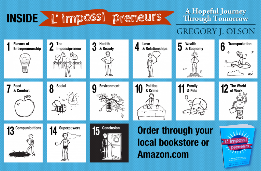 image of chapters inside L impossi preneurs - A Hopeful Journey Through Tomorrow by Gregory Olson