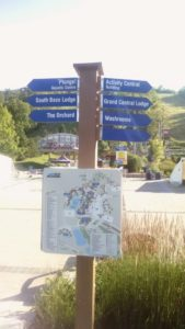 map and signs at blue mountain resort for Experience Design Blueprint - Delightability