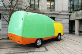 image of van used in affinity mapping brainstorm header image delightability website