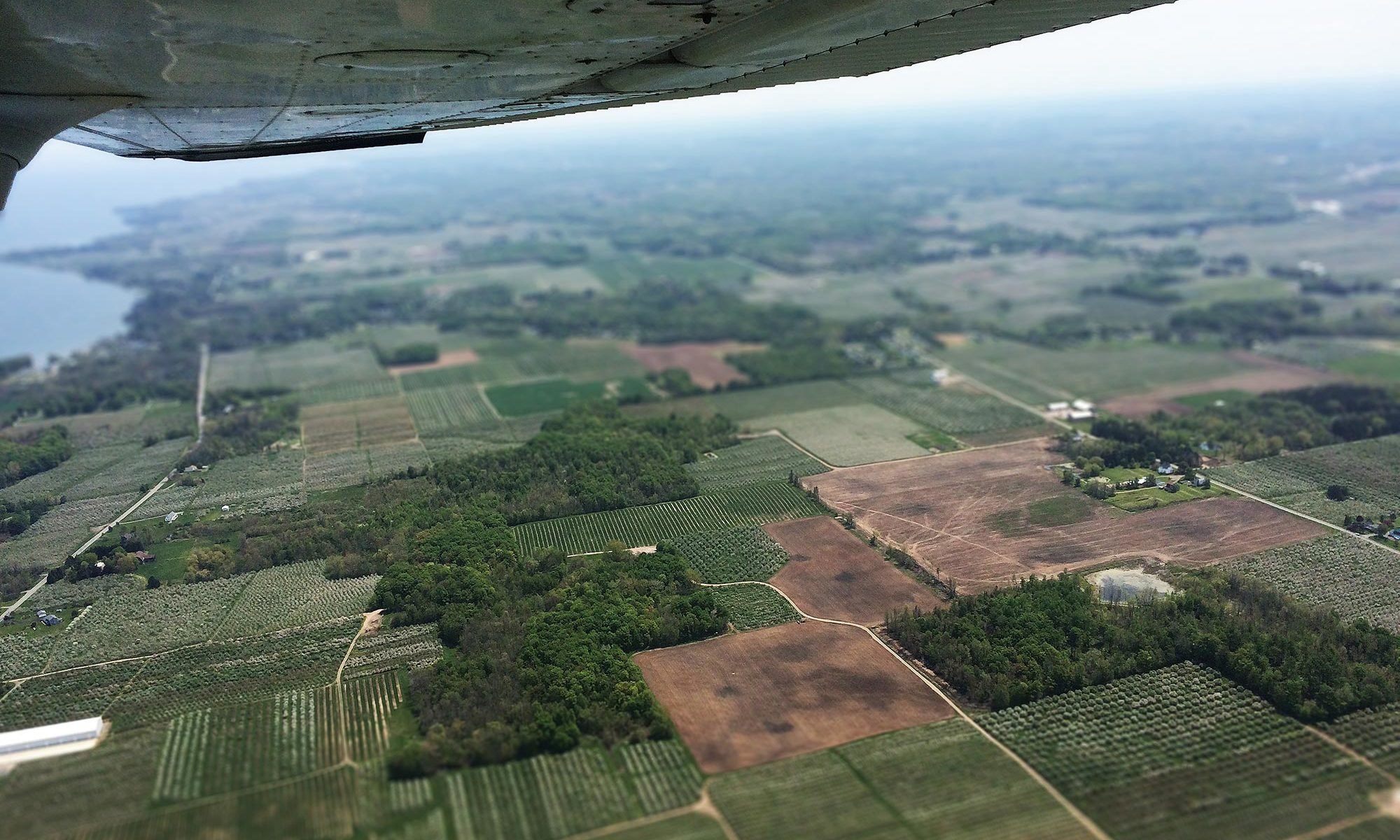 image of clear field from plane for negative target fixation blog post - Gregory Olson