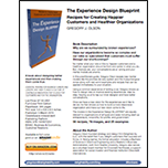 image of one page overview of The Experience Design Blueprint by Gregory Olson