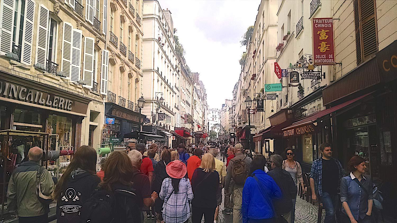 image of Market Street in Paris France - Delightability Rick Steves Tour