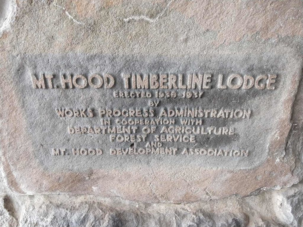image of WPA Plaque Main Entrance Timberline Lodge Mt Hood Oregon - better capitalism needed