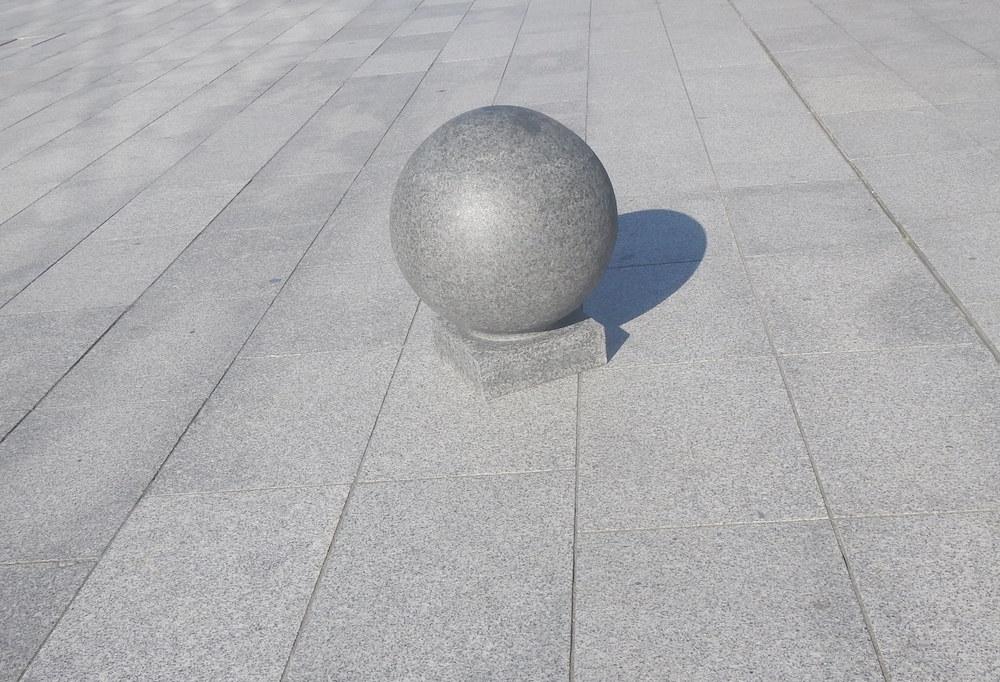 Bollard in Square in Liverpool - delightability